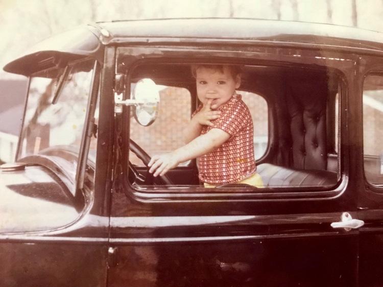 Born to be a car enthusiast. Photo: Laura Pierce