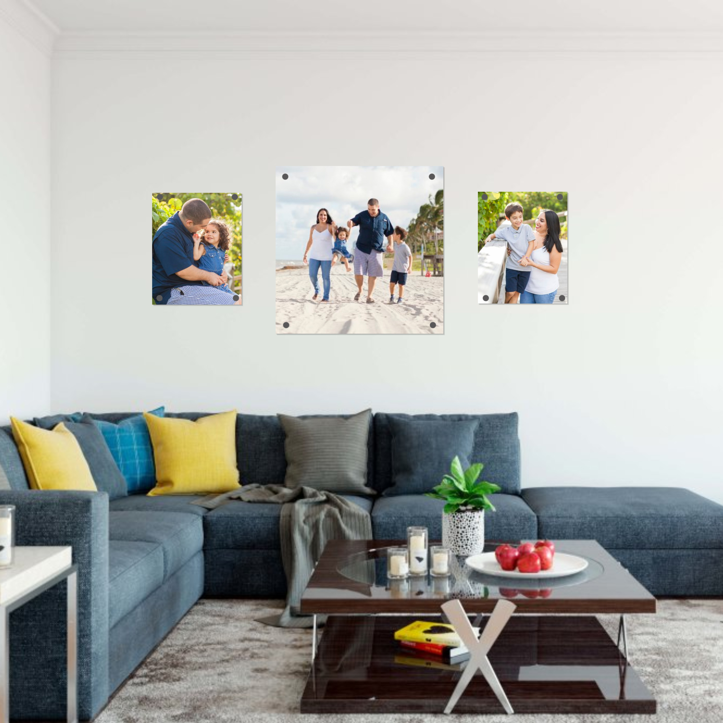 Family-portraits-dania-beach-photography-with pictures-on-wall