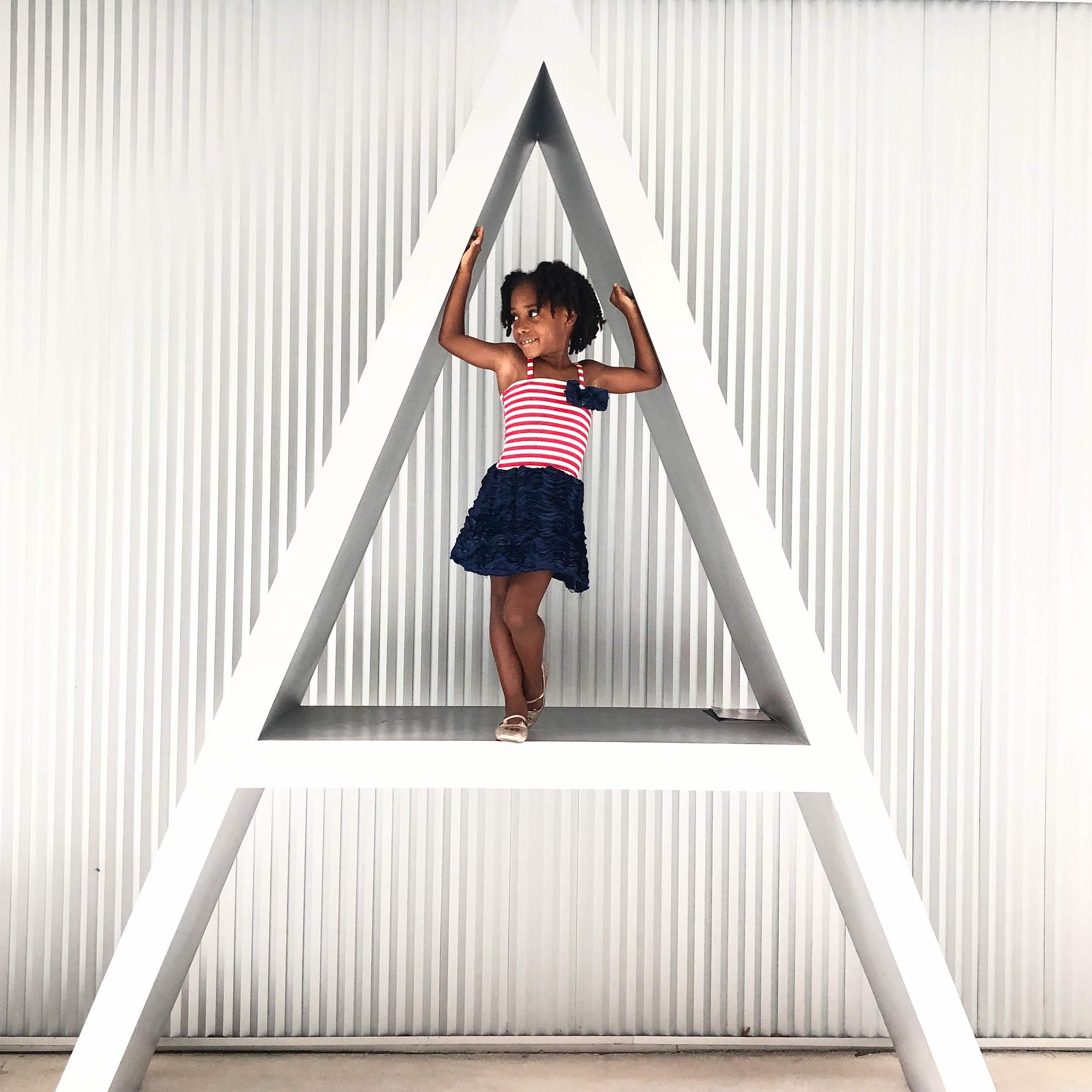Walking around Miami's Design District, we found fun art pieces for our mini photo shoot.   Institute of Contemporary Art