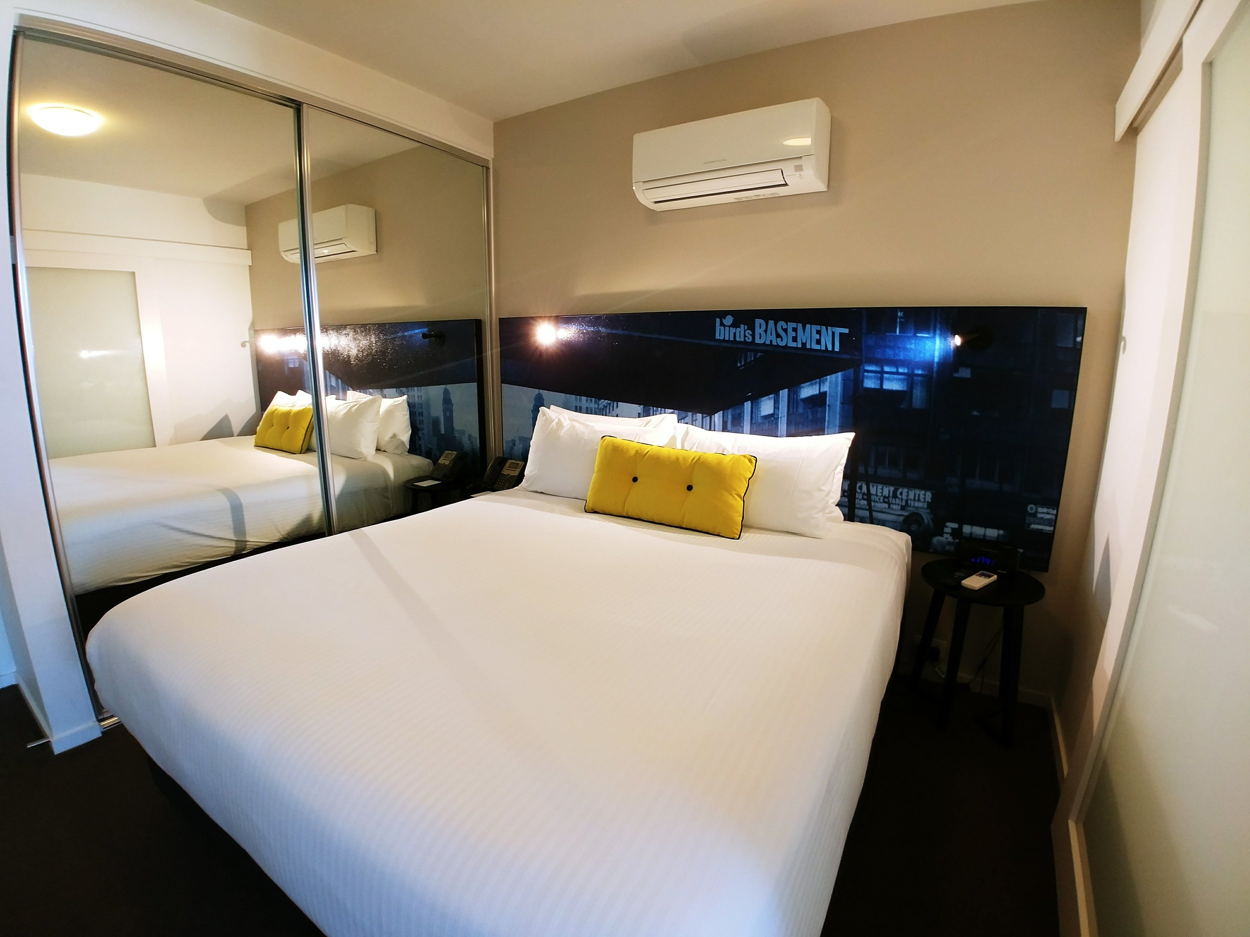 The bed was actually surprisingly comfortable and well done to the housekeeping team for making the bed super clean and crisp without any crumpling marks.