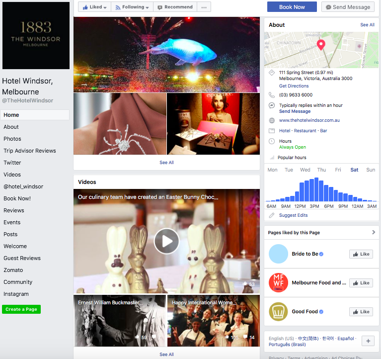 Facebook - Regular posts on their Facebook page once again with prompt interaction with their Facebook users in the comments. Maybe it will be great to place the same short video from their homepage to its Facebook cover to add a 'wow' factor.