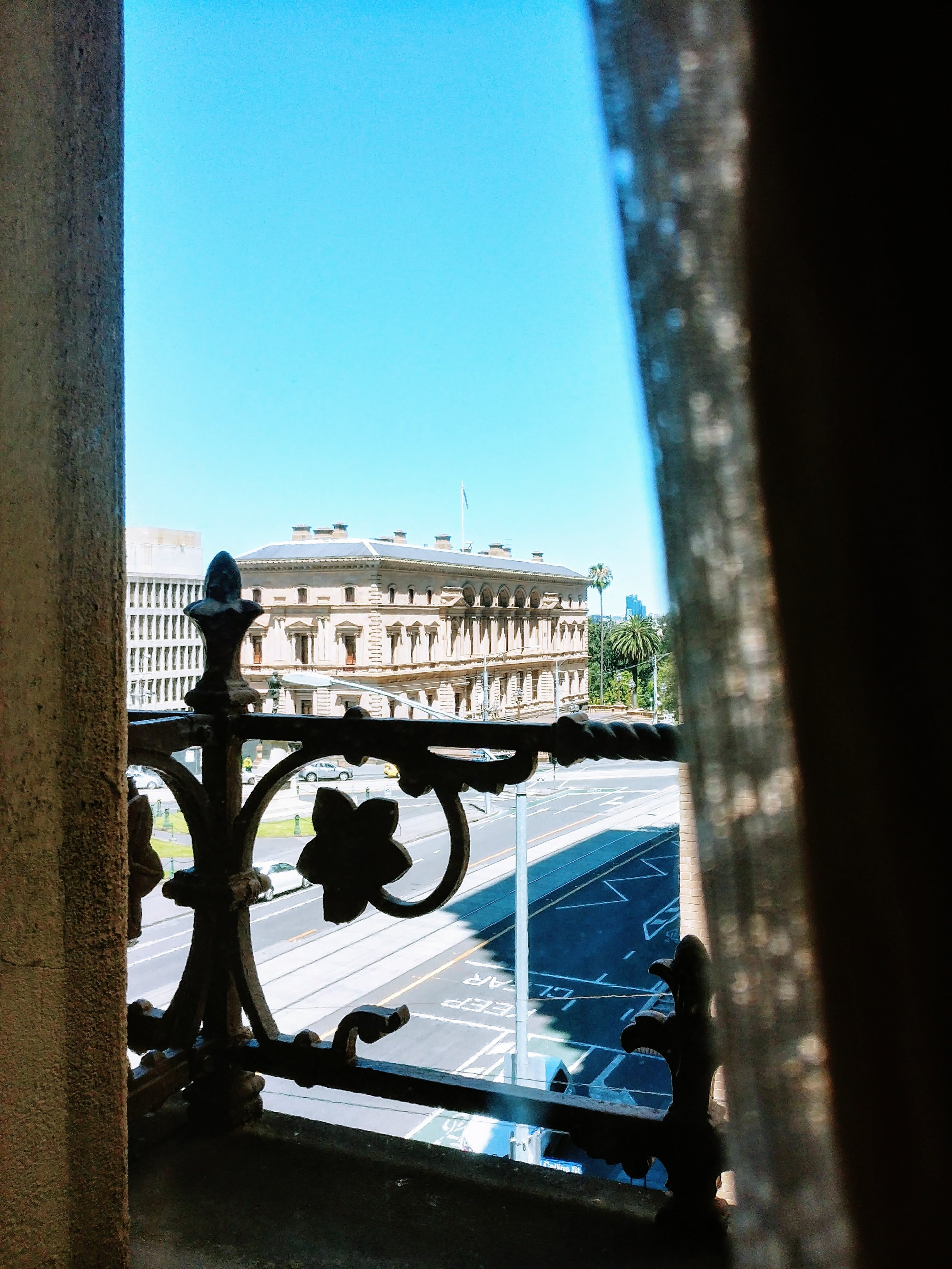 The view of The Old Treasury Building