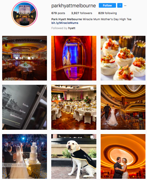 Instagram - Similar to Facebook, their content is majorly wedding related which doesn't really encourage followers to engage. Even if the hotel would like to boost up wedding bookings through social media, the content should be aim to drive engagement for example asking more of 'what do you think' or 'what are your experiences' instead of just a plain statement of the image.