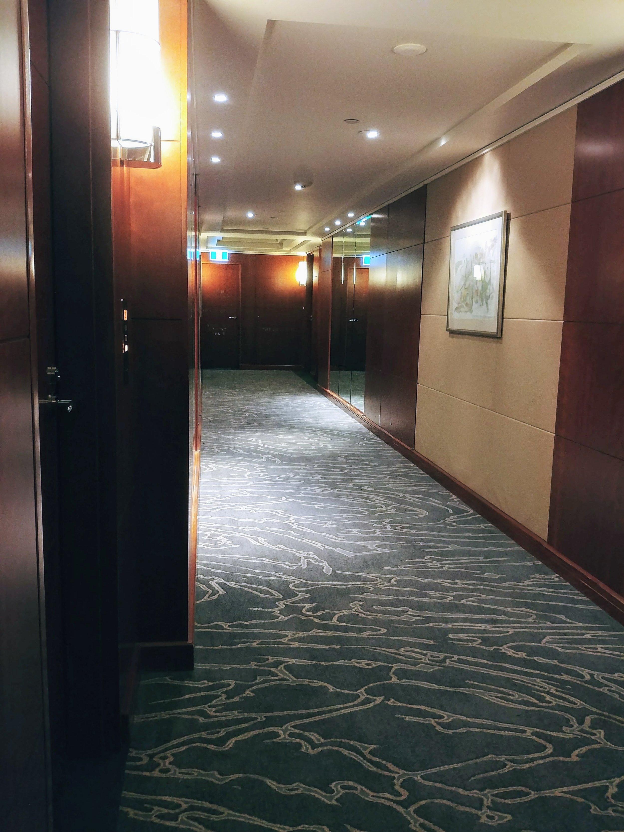 Guest room corridor
