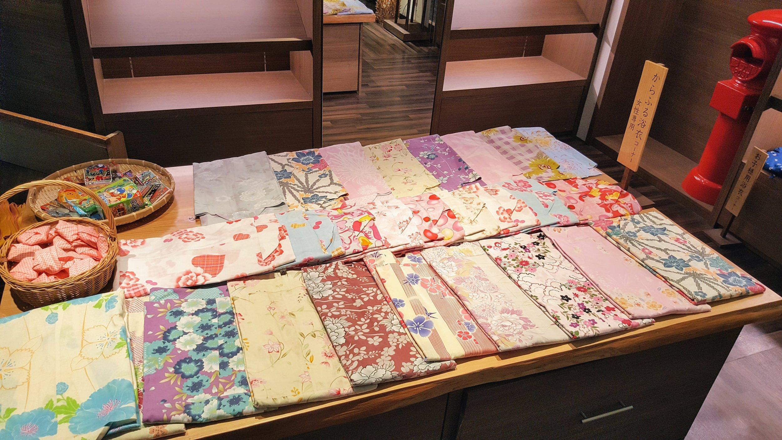 So many pretty yukata selections!