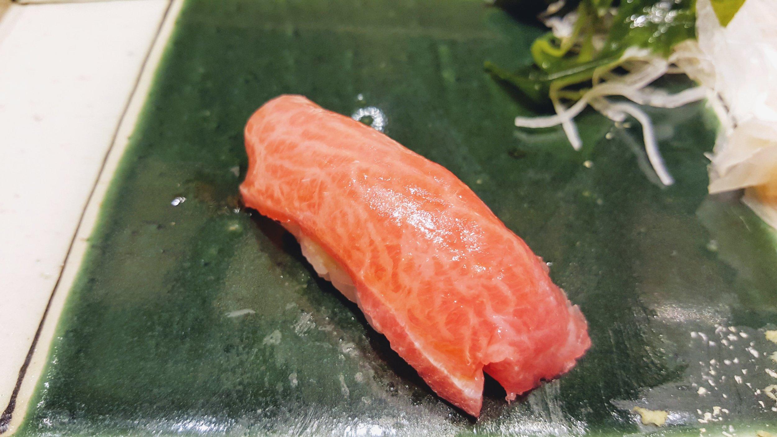 Fatty tuna, YUM!!!! The wagyu version of tuna.