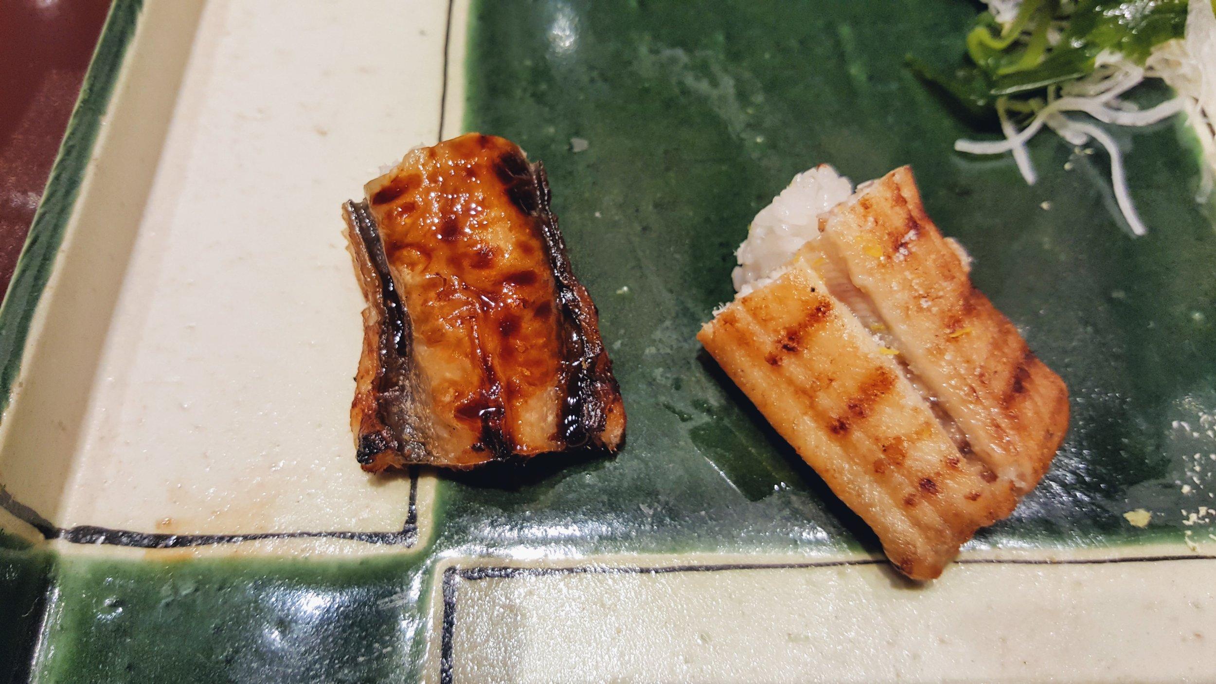 Grilled eel.