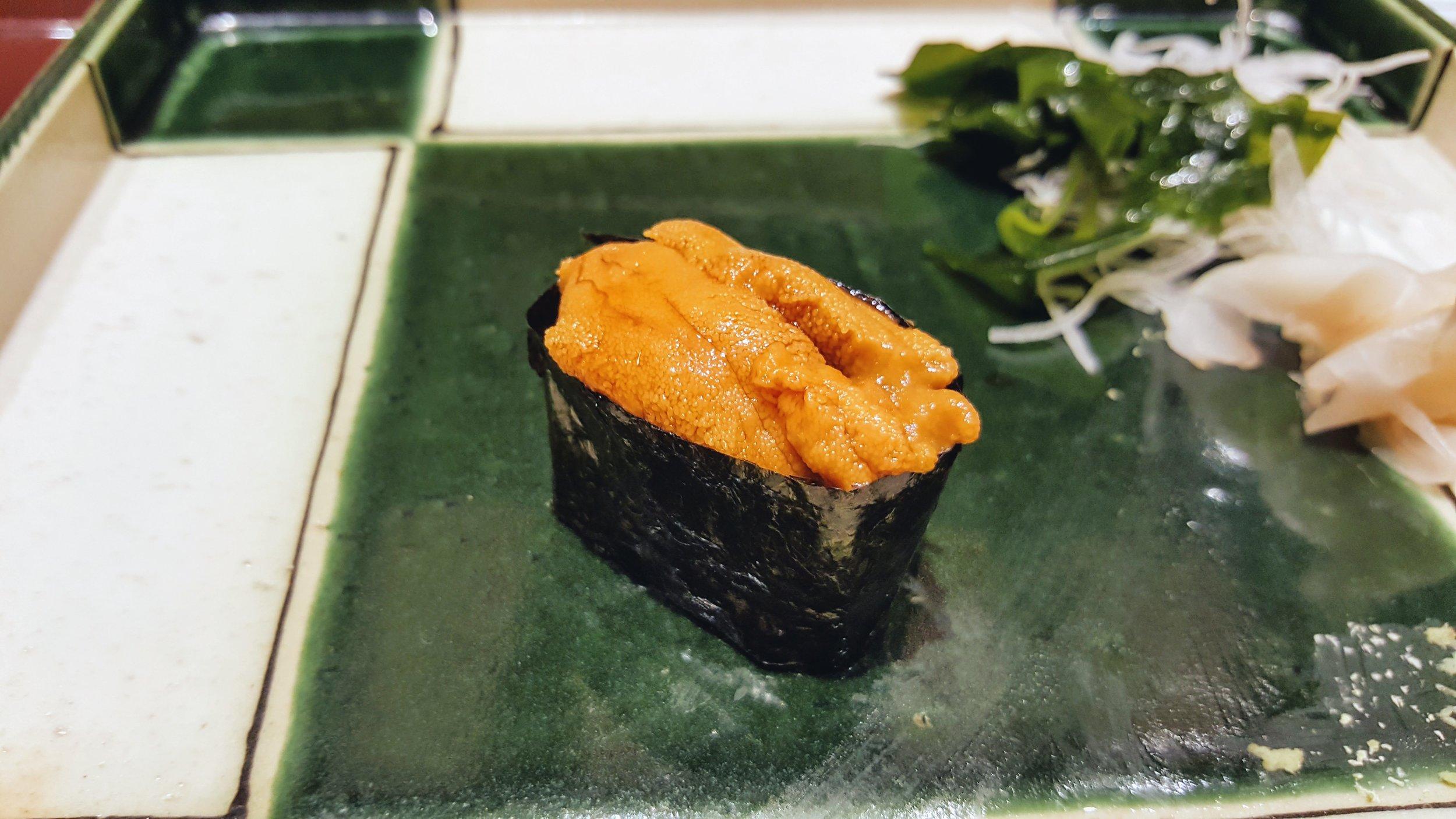 Love the sea urchin, so fresh and creamy.