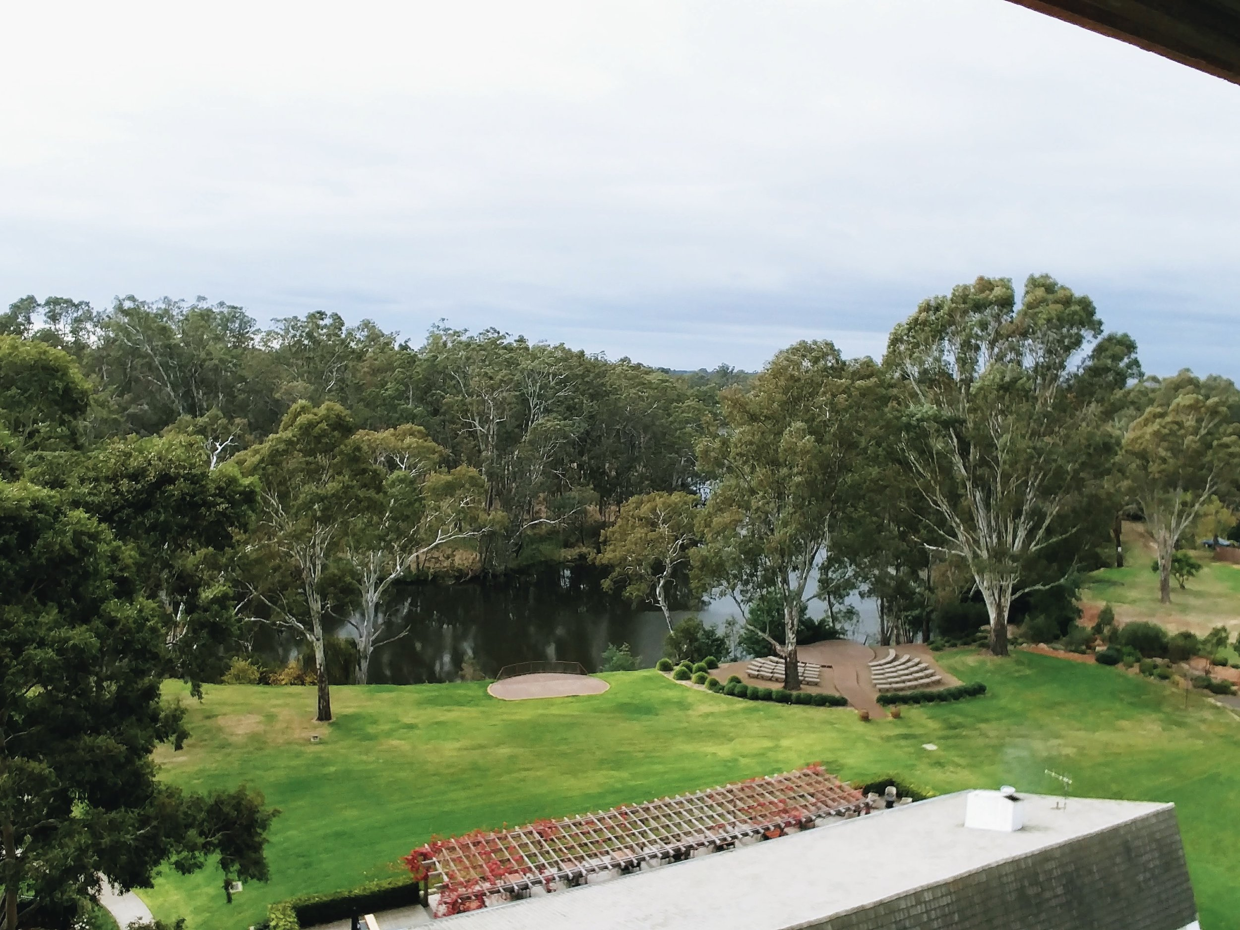 The view of the Goulburn river from the top of the tower