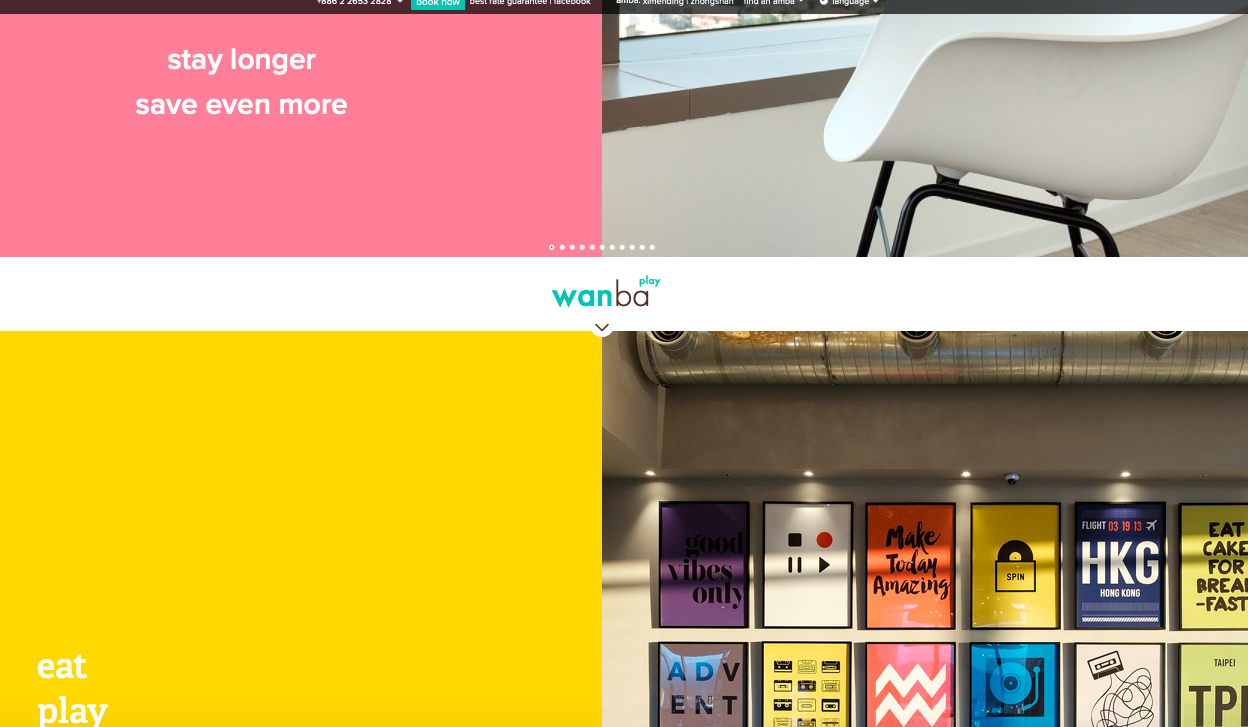 Website - I love the website design, it's modern and fun but in a classy way. The colours are bright and the page is filled with large images. A great way to create the first WOW impression!