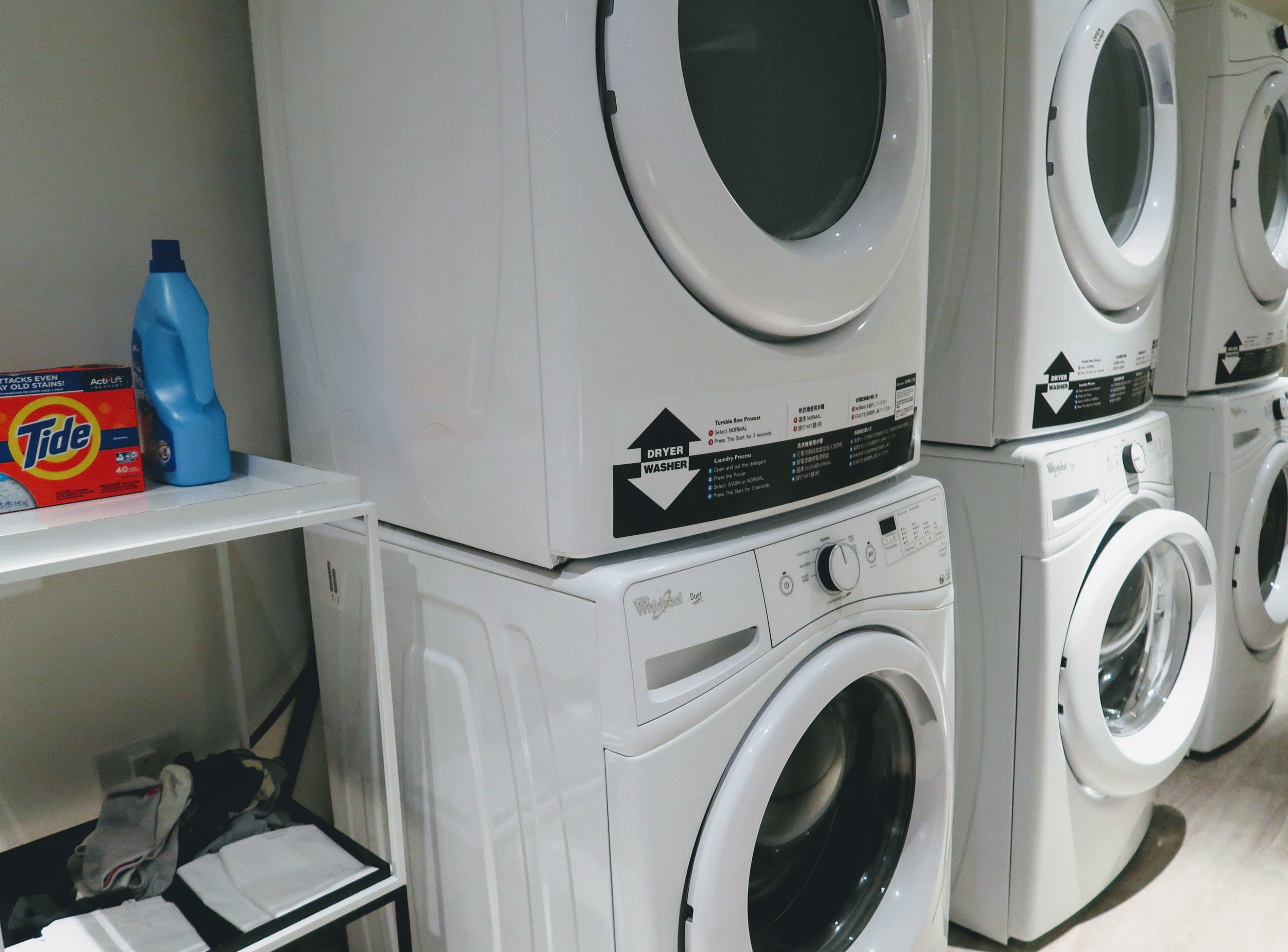 Laundry with detergent provided for free!