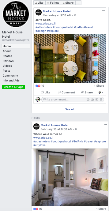 Facebook - Quite a generic Facebook page which can be quite boring after browsing on a few posts. I don't feel its personality from their Facebook page. I think they can do better by considering placing content that gives a story being a boutique hotel rather than just placing a picture and a mundane description.