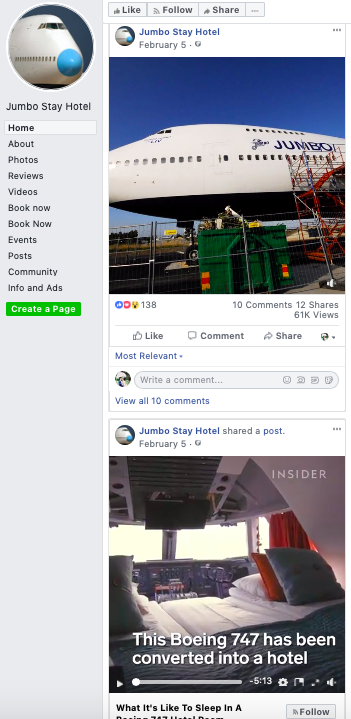 Facebook - Perhaps since this is a small-scale operation, I'm assuming that they do not have someone that manages their social media channels, hence there hasn't been any new content since February 5, 2019.