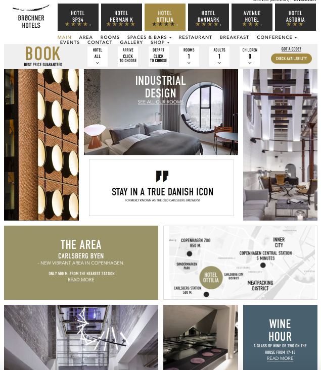 Website - I LOVE the design of the website. It instantly associates with how a boutique hotel should represents and it looks like a top class lifestyle magazine. Very appealing for its market and extremely attractive design indeed! Easy to give off a WOW factor since not many hotels invest in their website design.