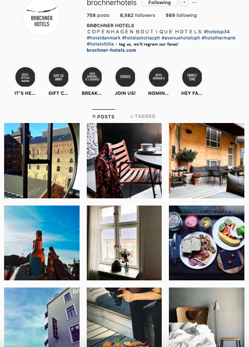 Instagram - Interestingly their Instagram strategy is to follow a centralisation strategy to manage for all of their hotels. Can be effective for cross promotion and also the content are carefully curated to fit similar look and feel. Impressive work!