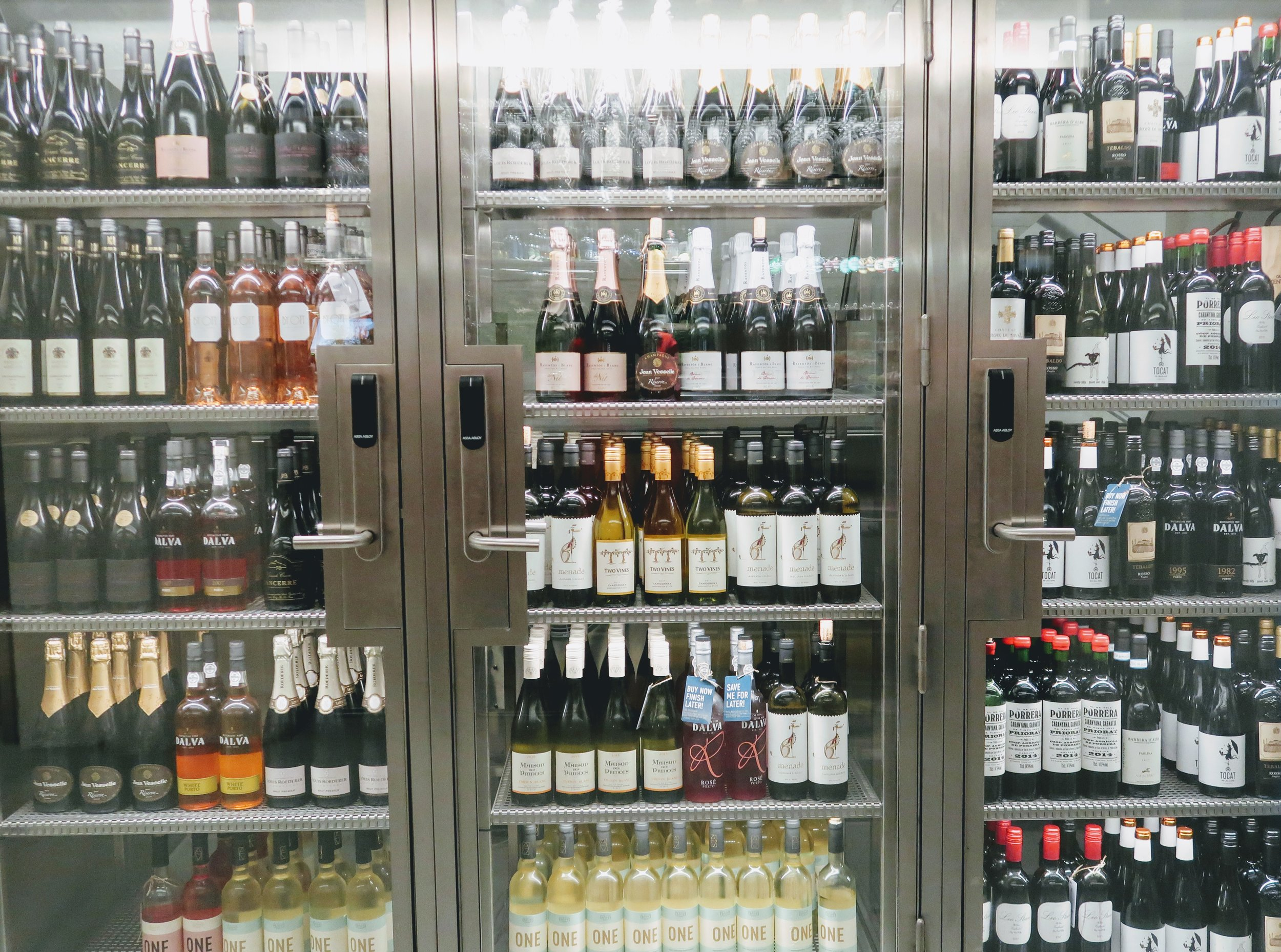 Huge selection of wine available.
