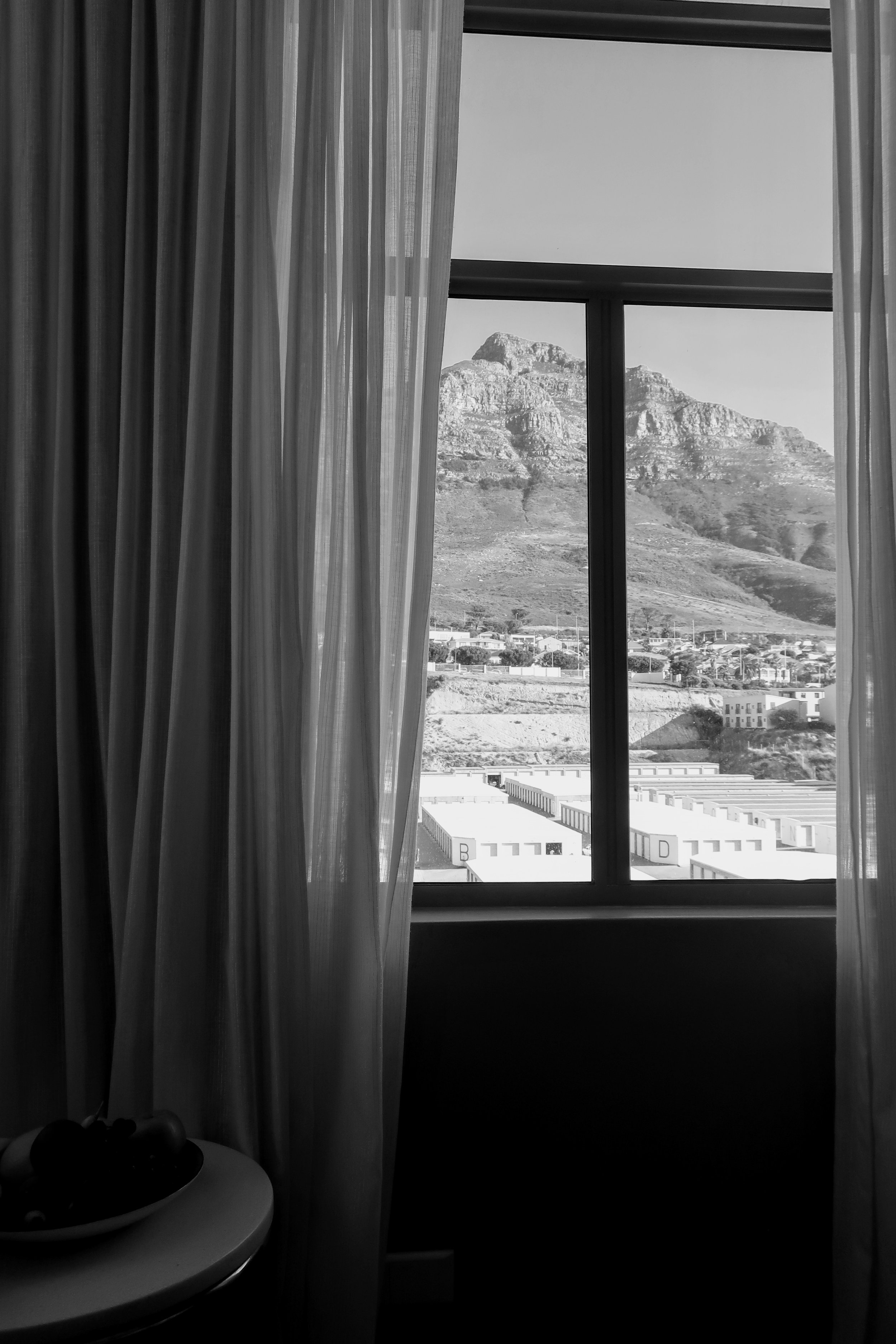 Waking up to this impressive view of Devil's Peak.