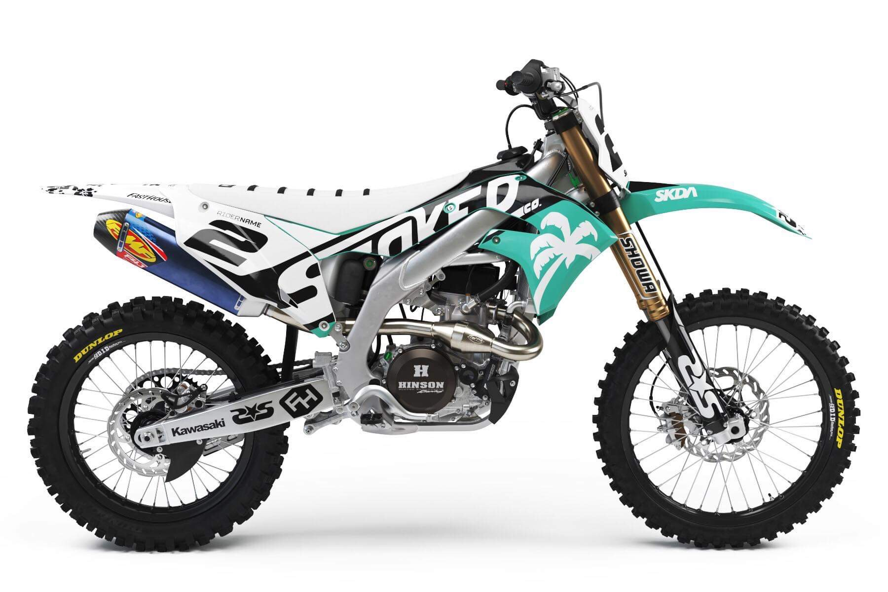 kawasaki Teal full graphics kit -