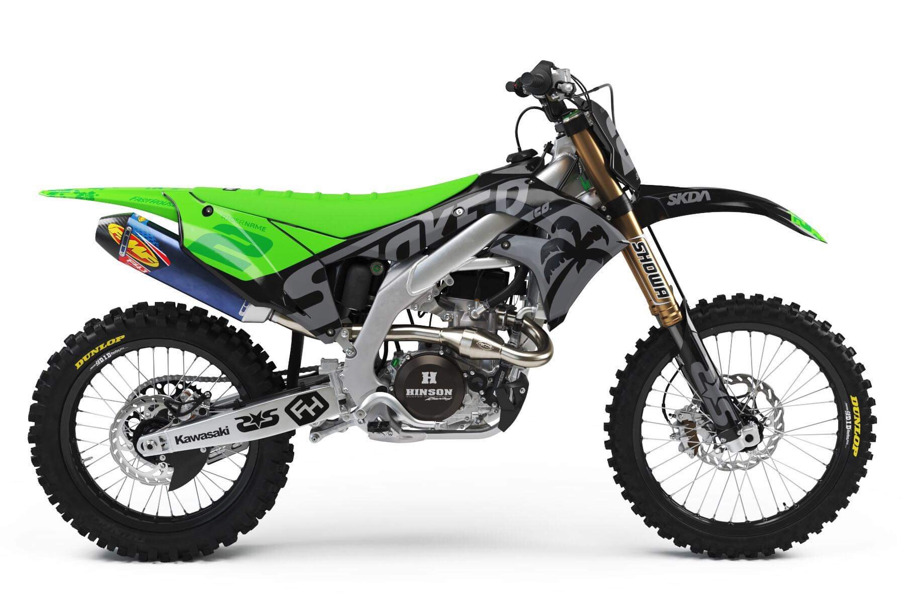 kawasaki green full graphics kit -