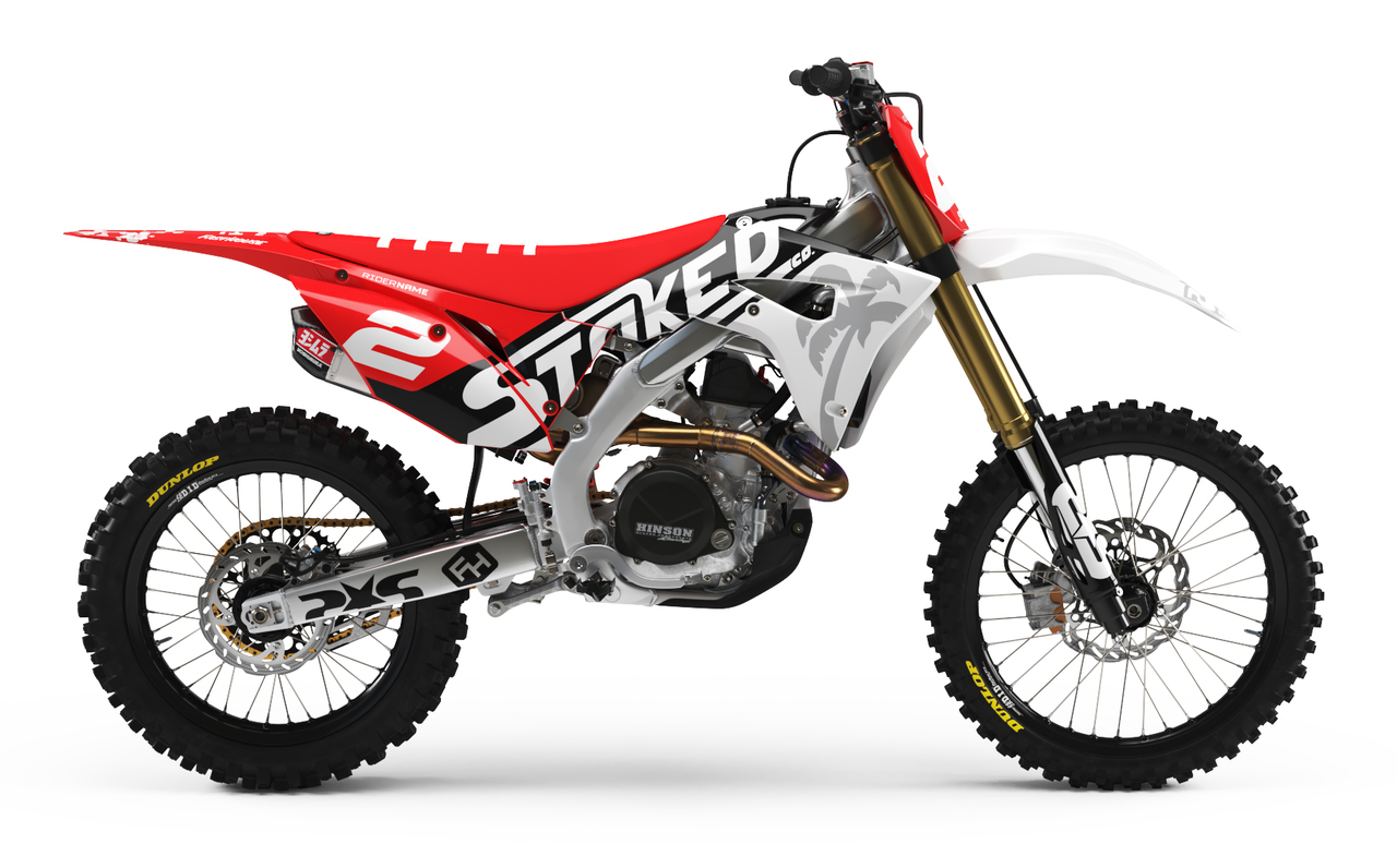 honda red full graphics kit -