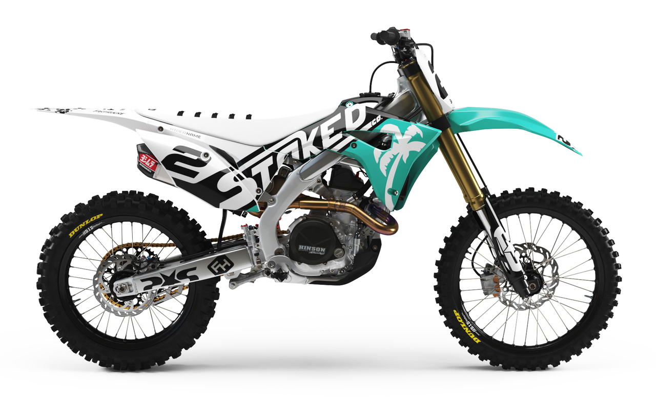 honda teal full graphics kit -
