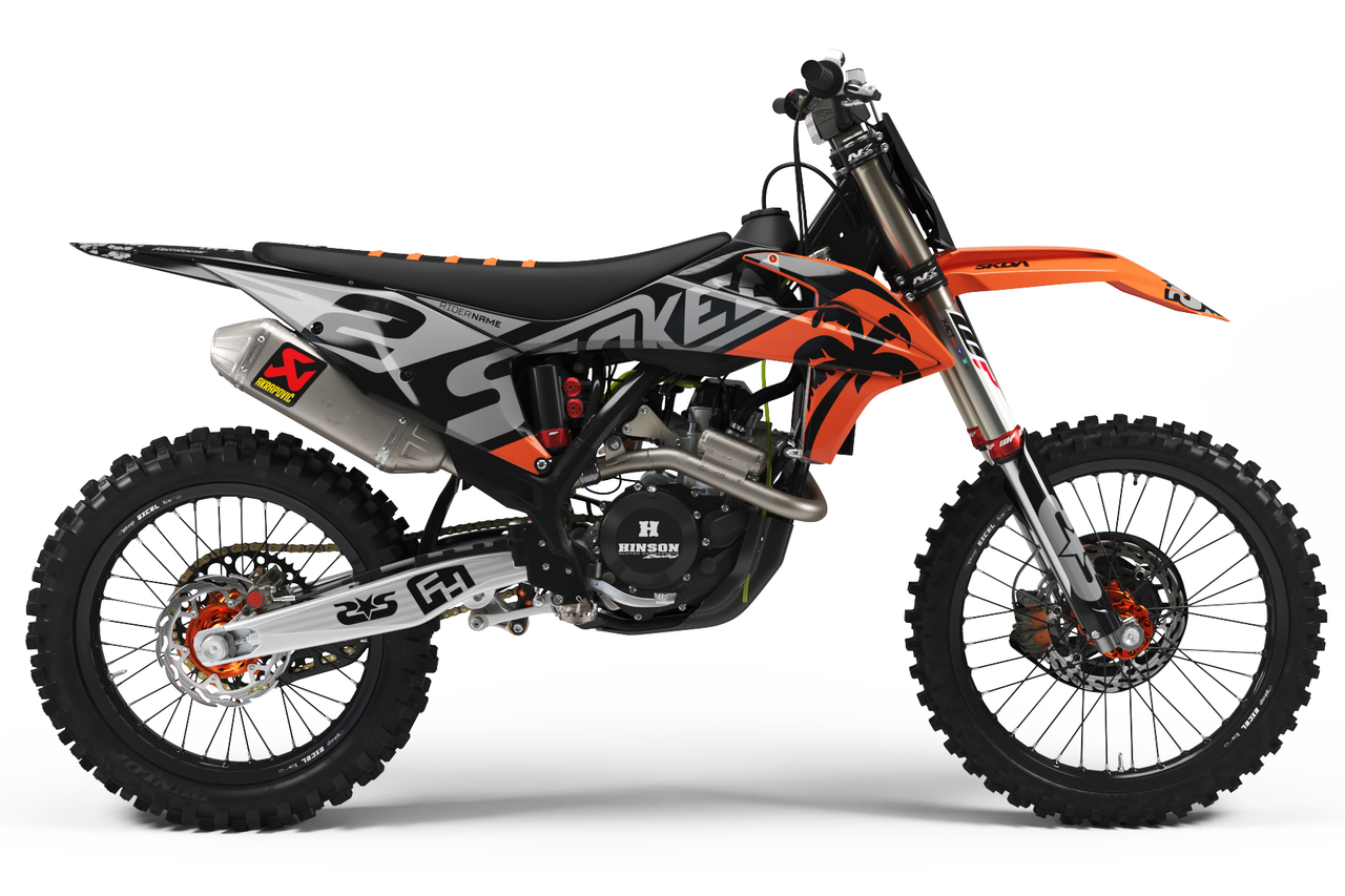 ktm black full graphics kit -