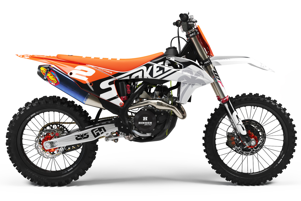ktm orange full graphics kit -