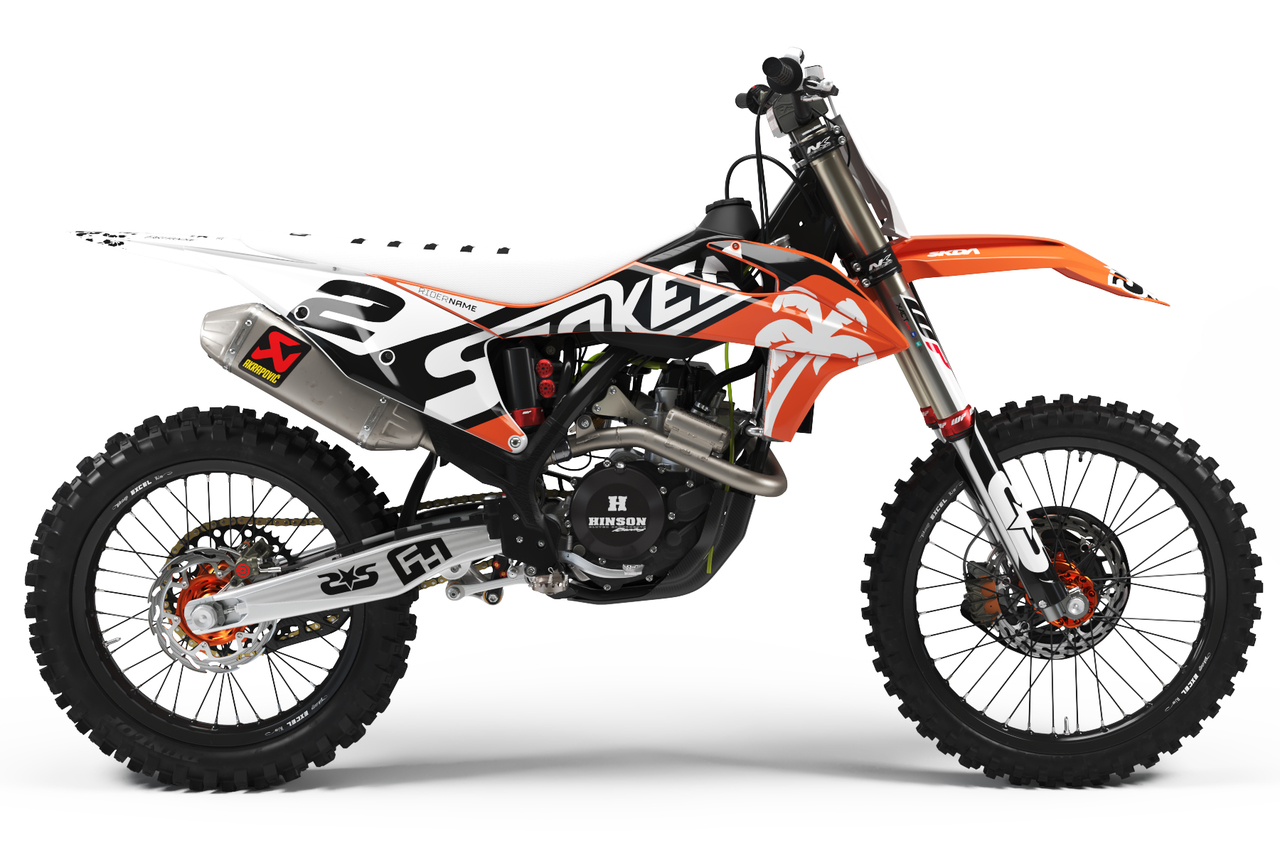ktm white full graphics kit -