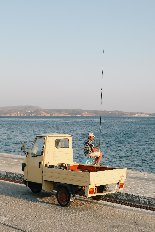 Fisherman in Milos, Greece