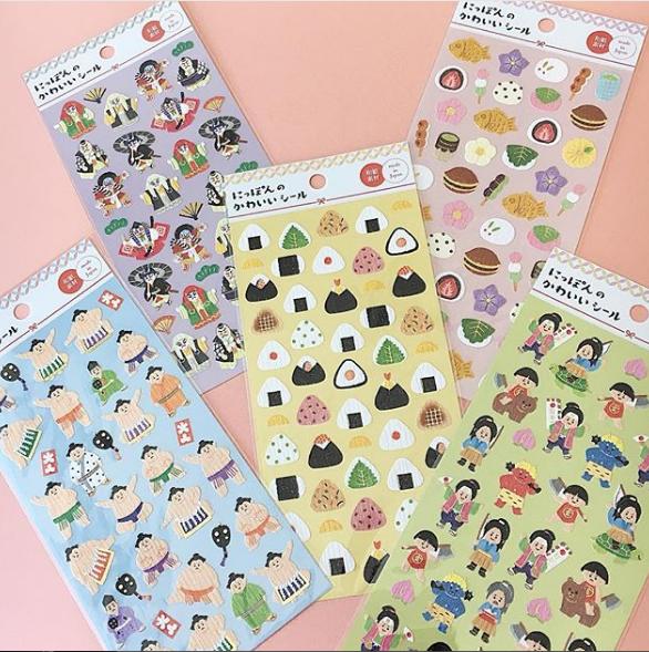 stickers con comida japonesa.png