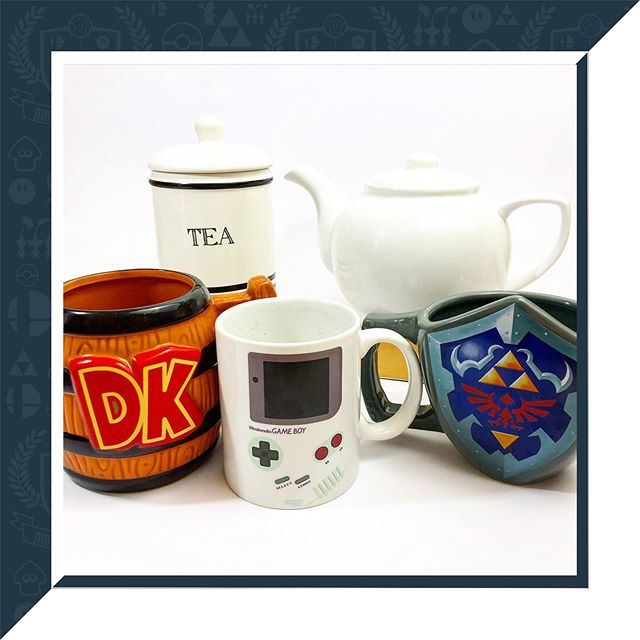 Anyone fancy a brew? ☕️ ⁣ ⁣ Somehow acquired a few Nintendo mugs in recent years. Maybe I should start a collection? 🤔 ⁣ ⁣#DK #Zelda #Gameboy #mugs #fancyabrew #tea #coffee #teapot #cupofjoe #Nintendo #gaming #gamer #videogames  #nintendogamer #nintendogram #nintendofans #nintendofan #worldofnintendo #nintendoworldpow #nintendovillage #photooftheday