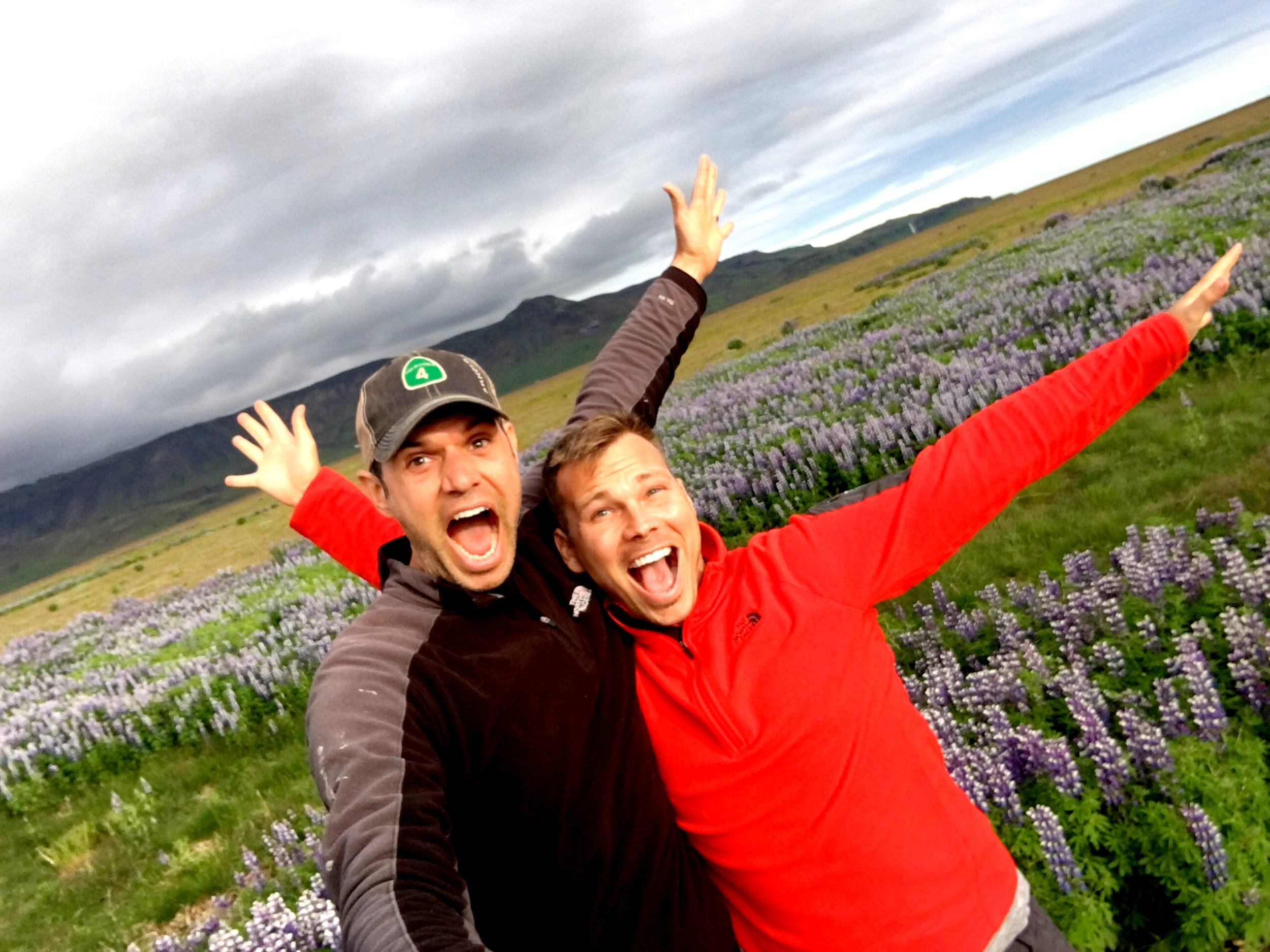 Serving up selfie-stick realness in the fields of Iceland during our first camper van trip in 2017.