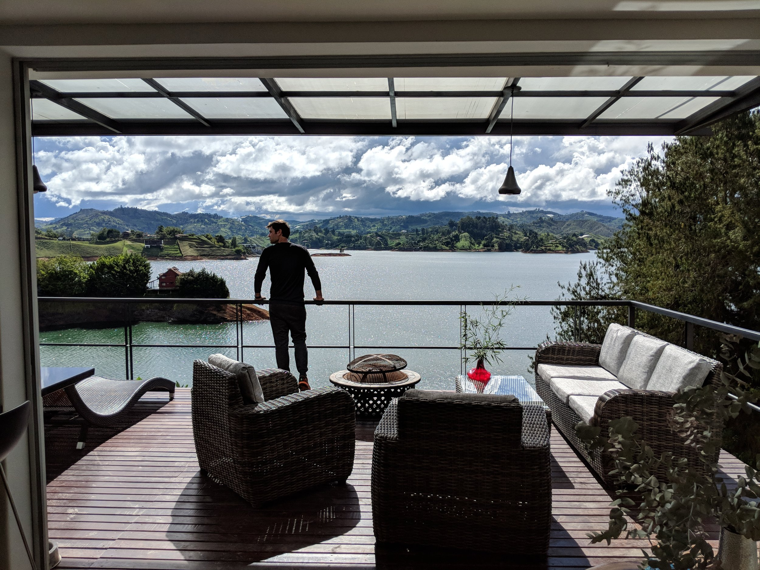 View from our  amazing Airbnb  in Guatape, Colombia…a splurge for sure. But totally worth it for Nic's birthday weekend.