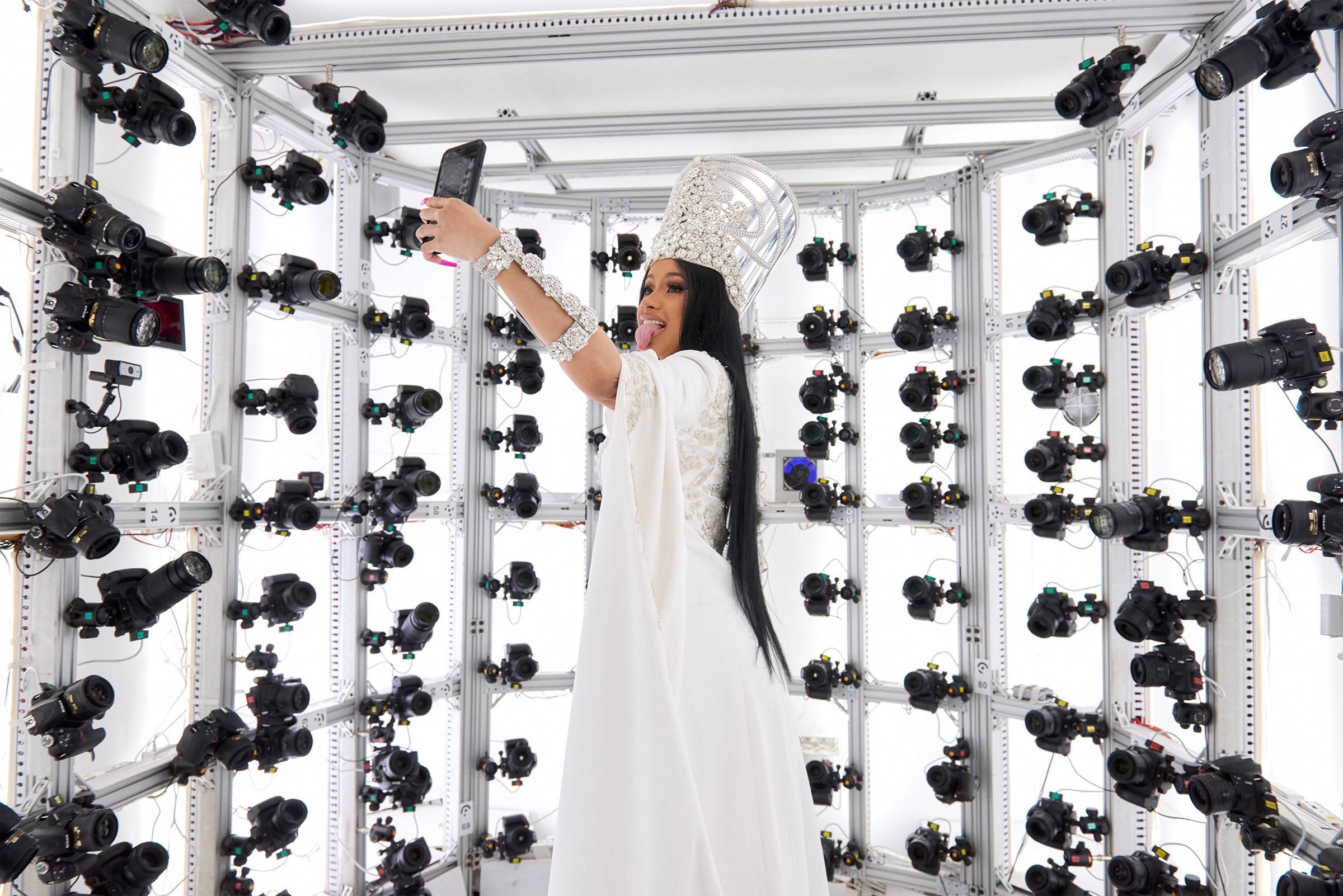 Cardi B in the SLR photo-booth