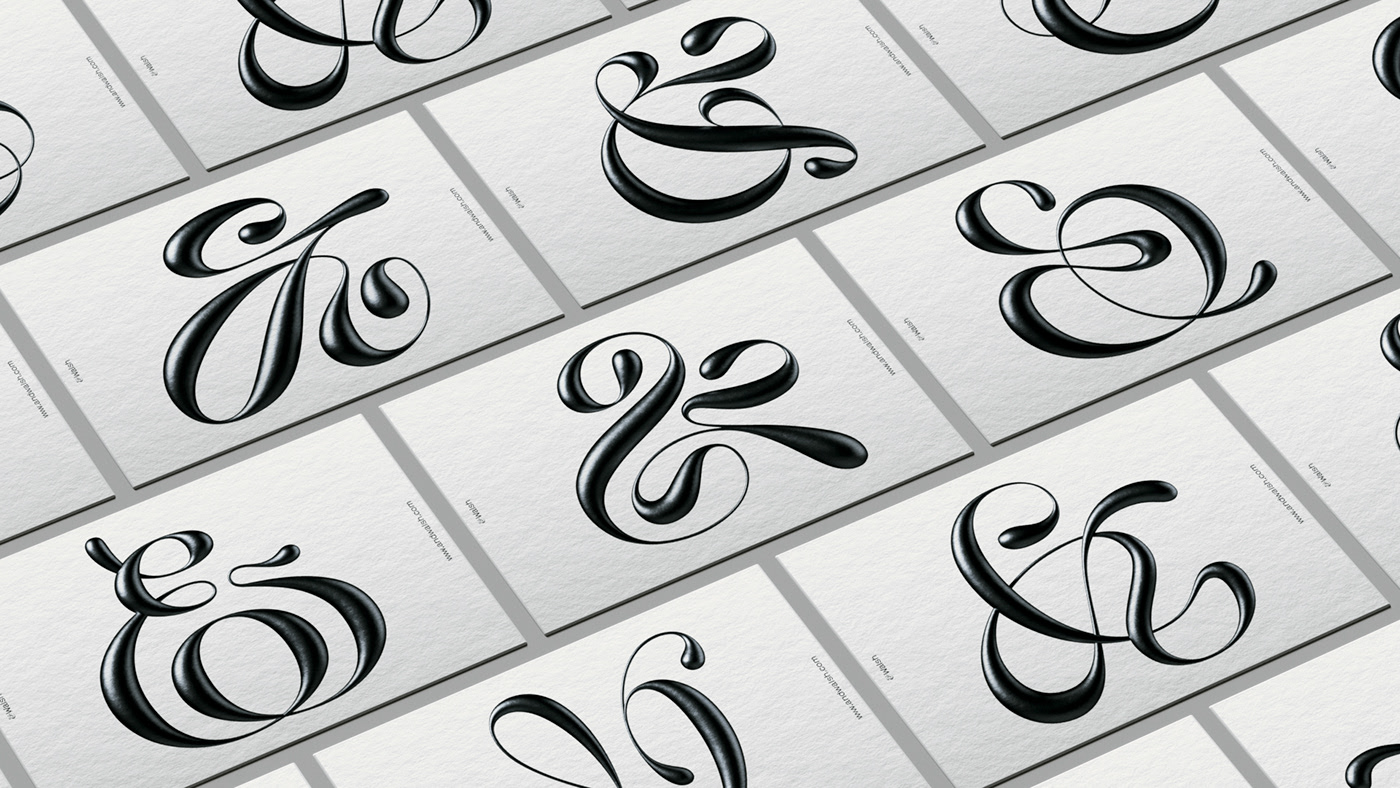 A sample selection of 50 ampersand designs