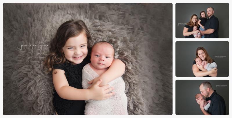 newborn boy with sister