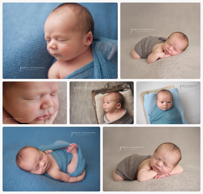 posed studio newborn boy photoshoot