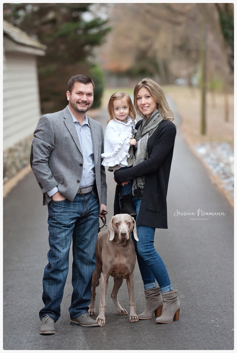 family image with dog