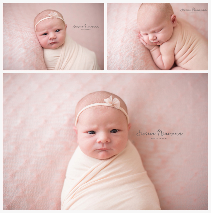 newborn in all pink