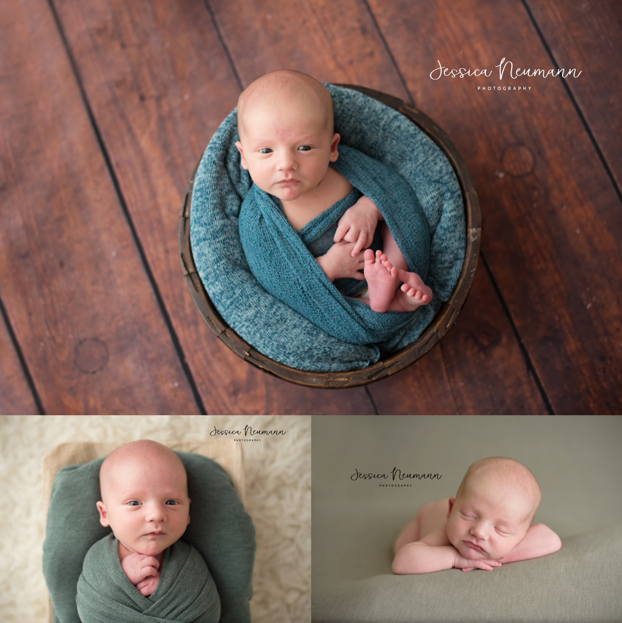green and brown set ups for newborn baby