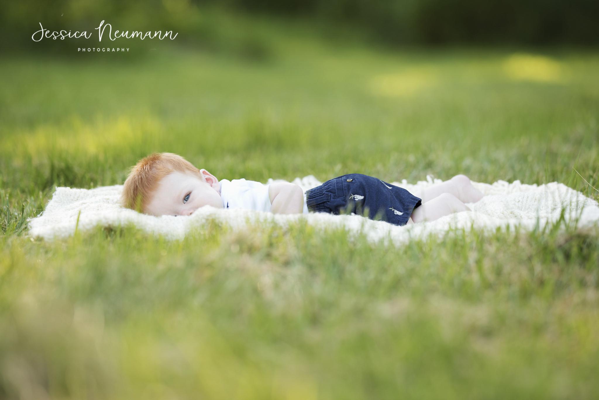 peek a boo in the grass