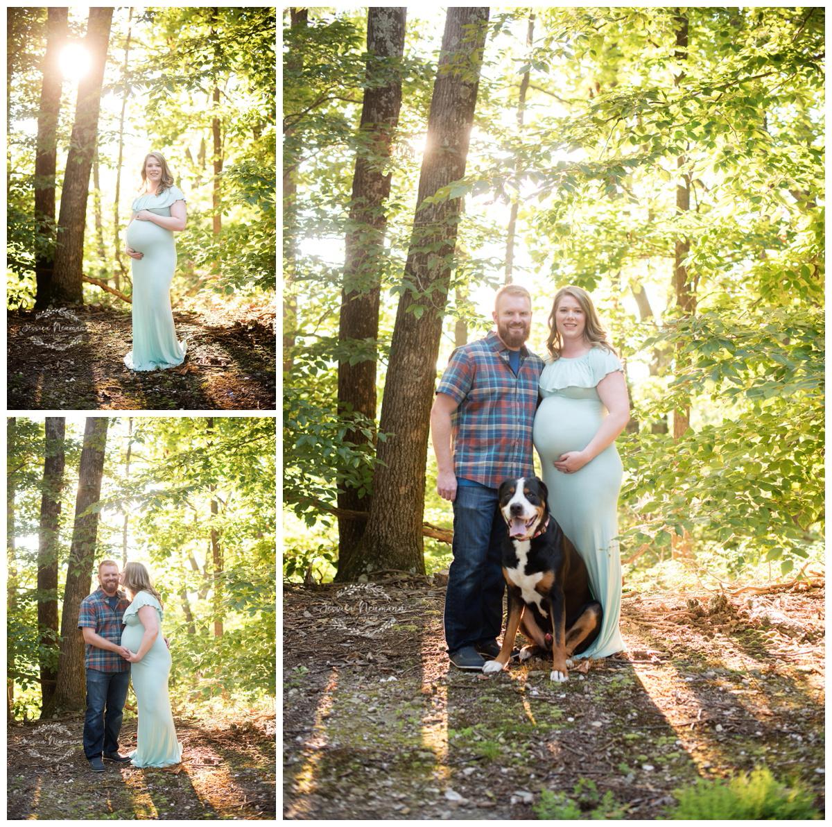 outdoor pregnancy photos with dog