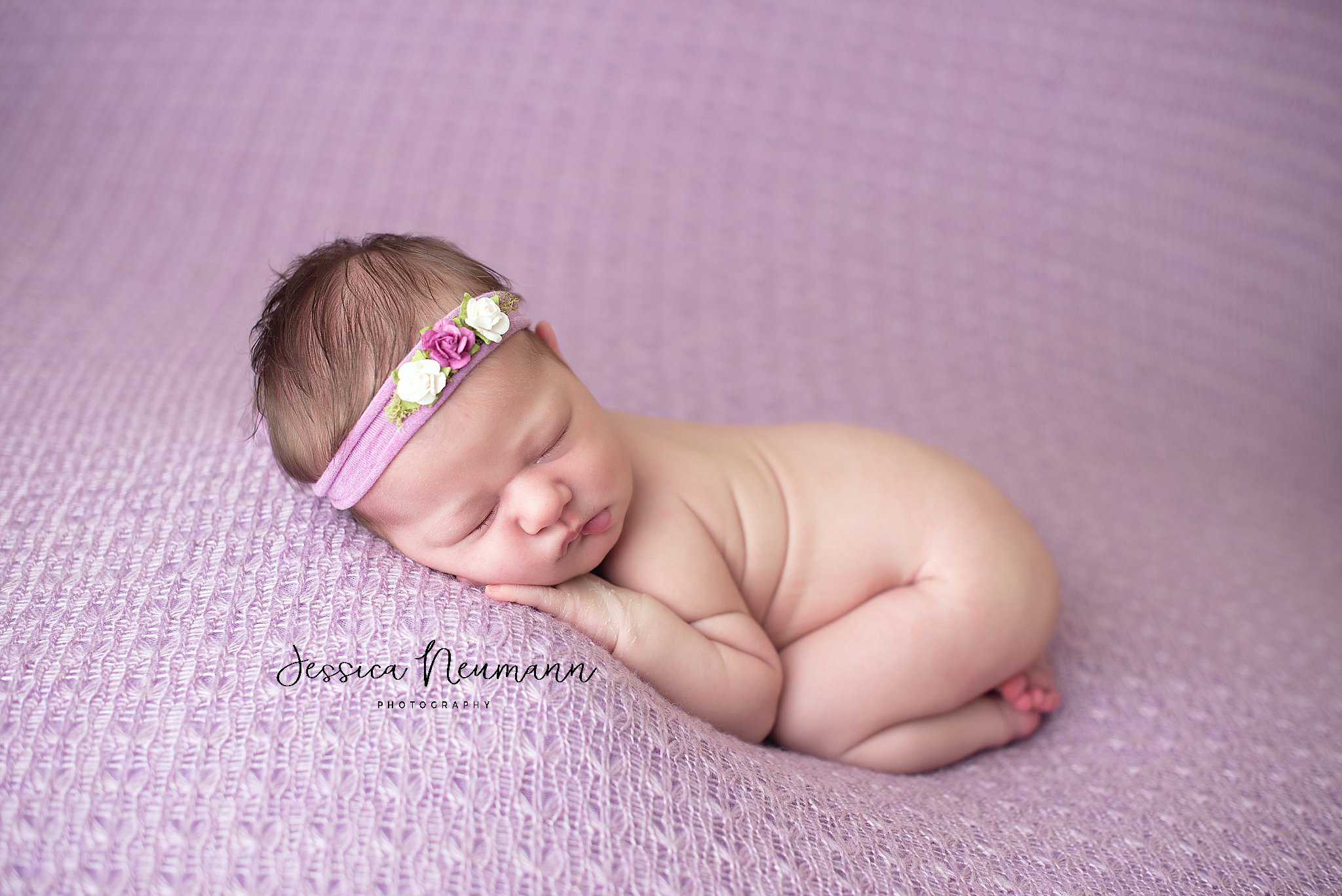 sleepy purple baby