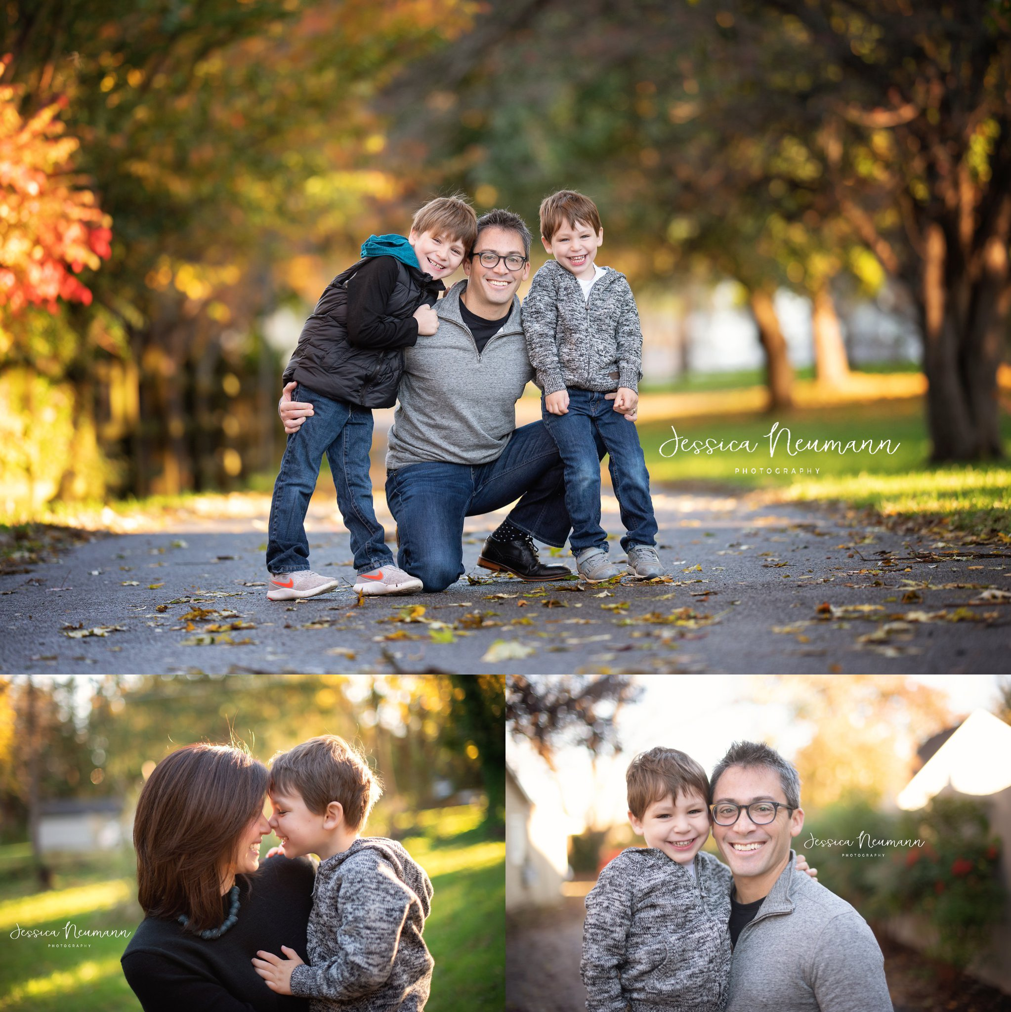 Happy Family Fall Outdoor Photos in Ellicott City, MD