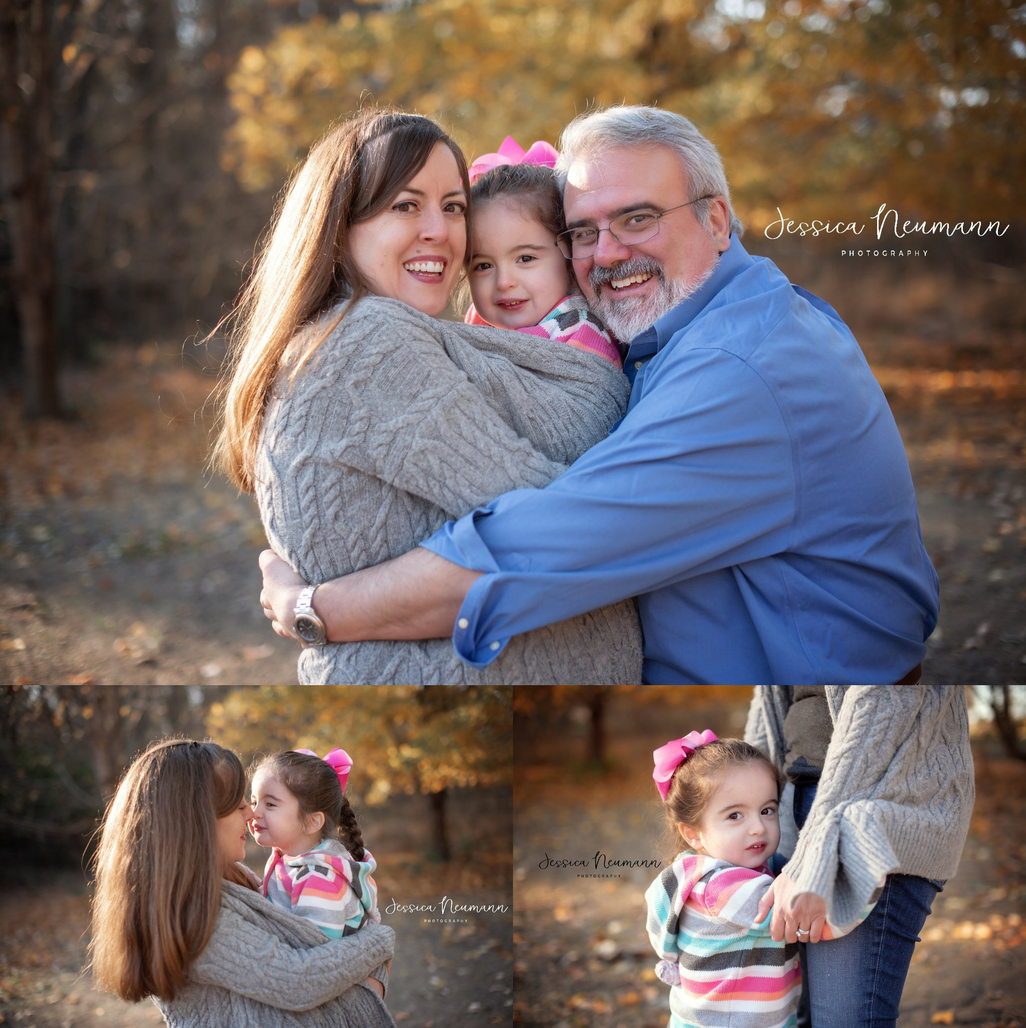 Happy Family outdoor photos in the Fall in Frederick, MD