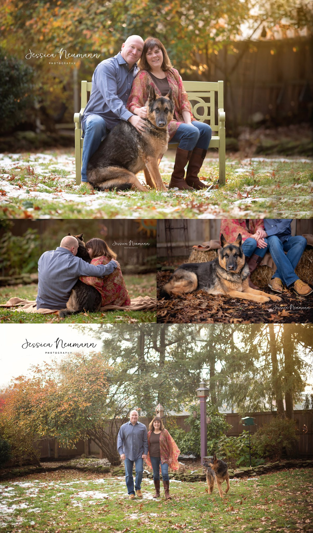 Family photos with dog in Frederick, MD