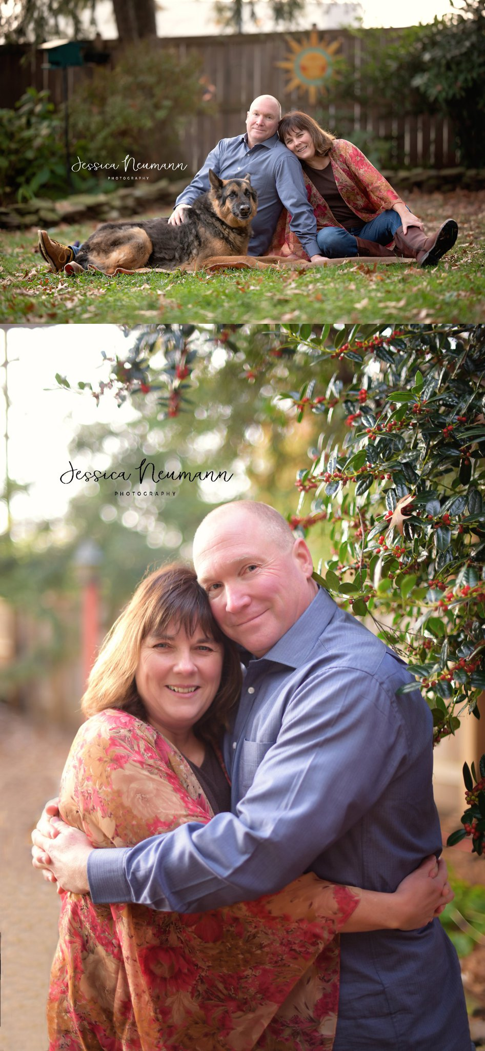 Outdoor Fall Photos Couple with dog in Frederick, MD