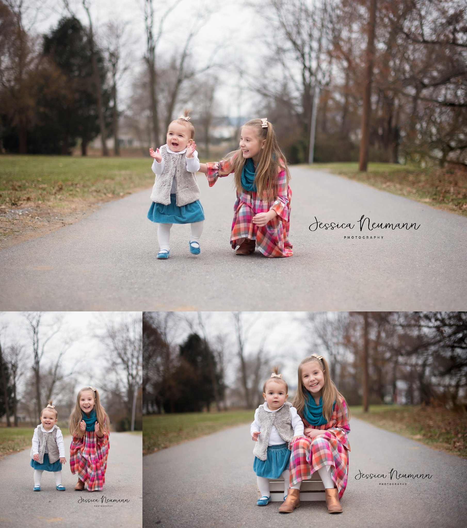 Outdoor sister photo session in Frederick, MD