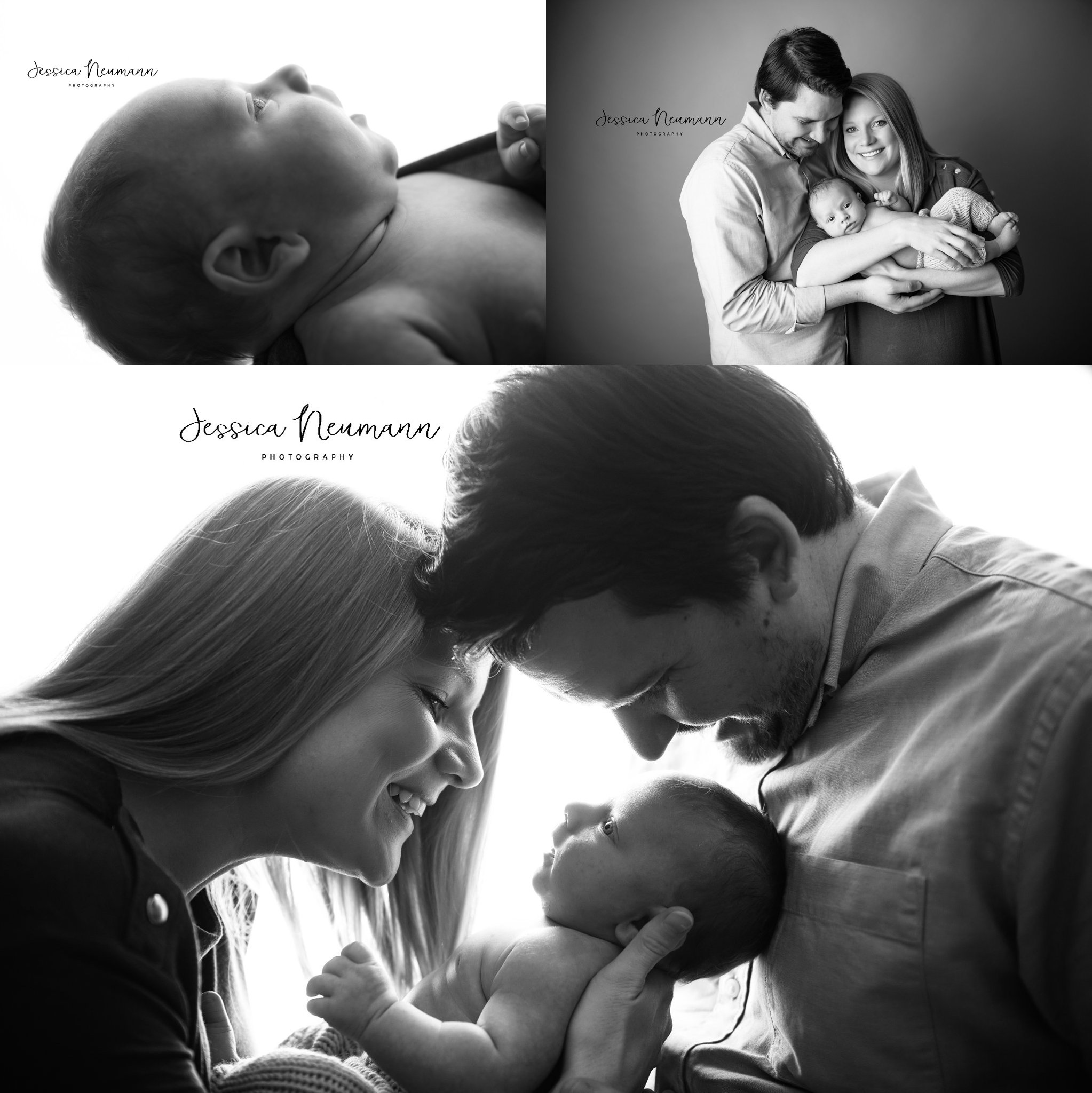 Newborn session in black and white, Frederick, MD