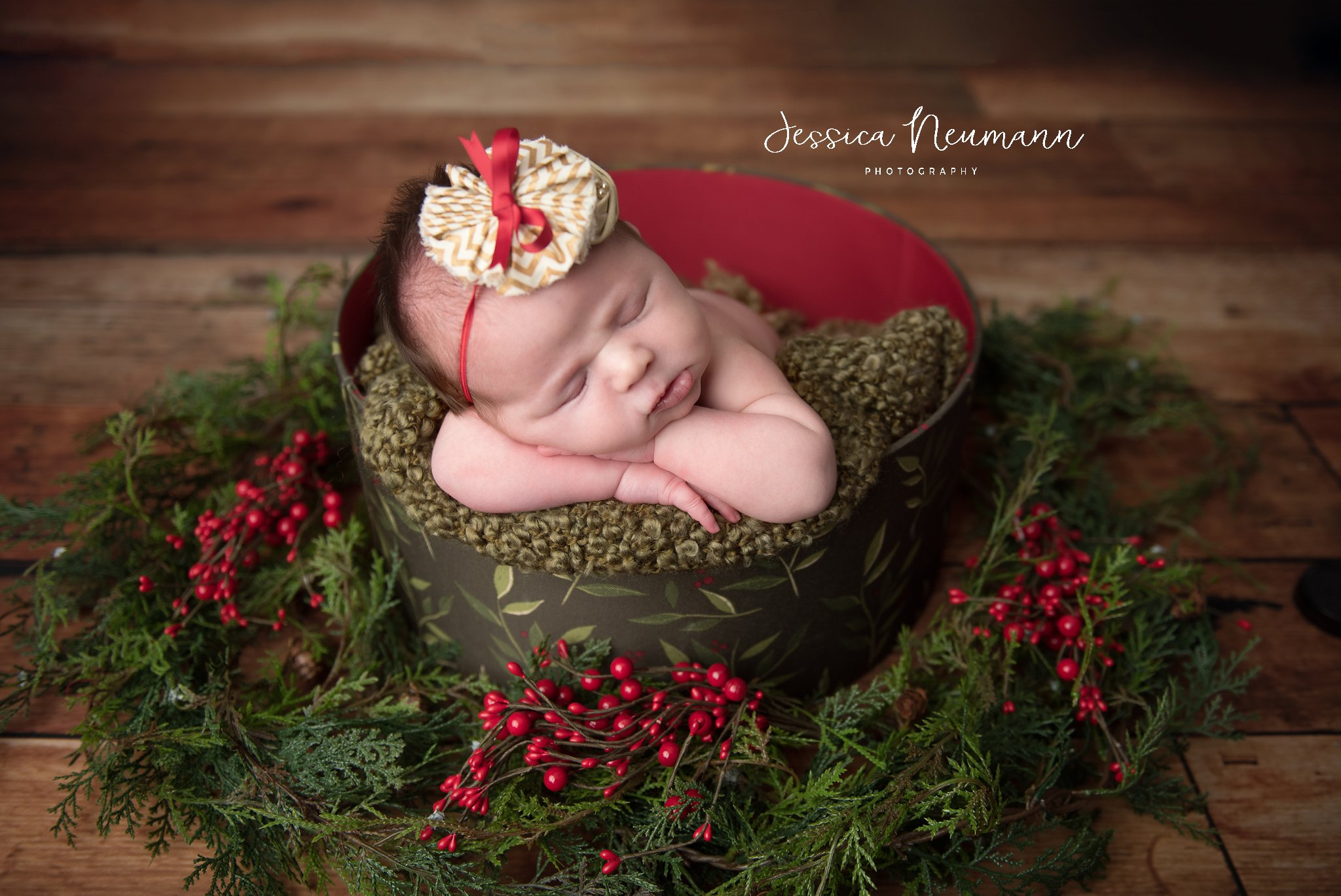 Christmas newborn photo, New Market, MD